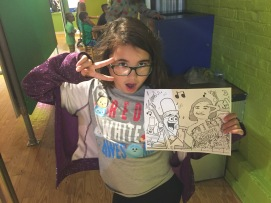 Her own coloring page