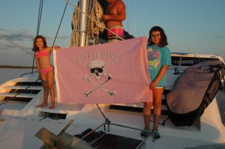 Their new pirate girl flag.